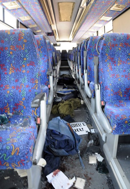 Terror attack eilat - bus